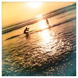 Keiji Iwai Photographer at beach shooting