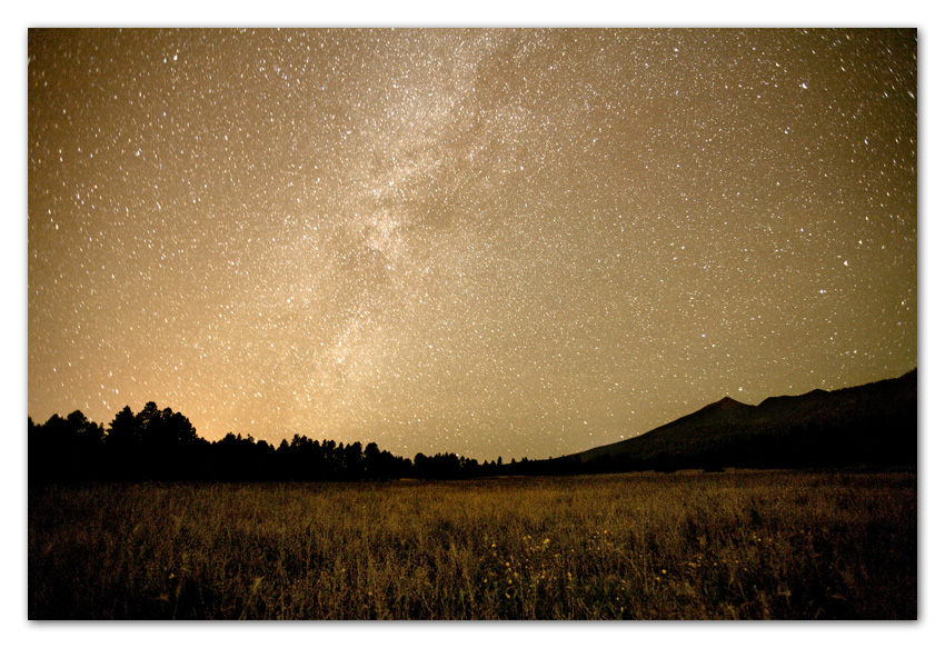 Milky Way over San Francisco Peaks Flagstaff Arizona