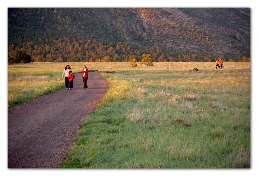 People walking at Buffalo Park Flagstaff Arizona
