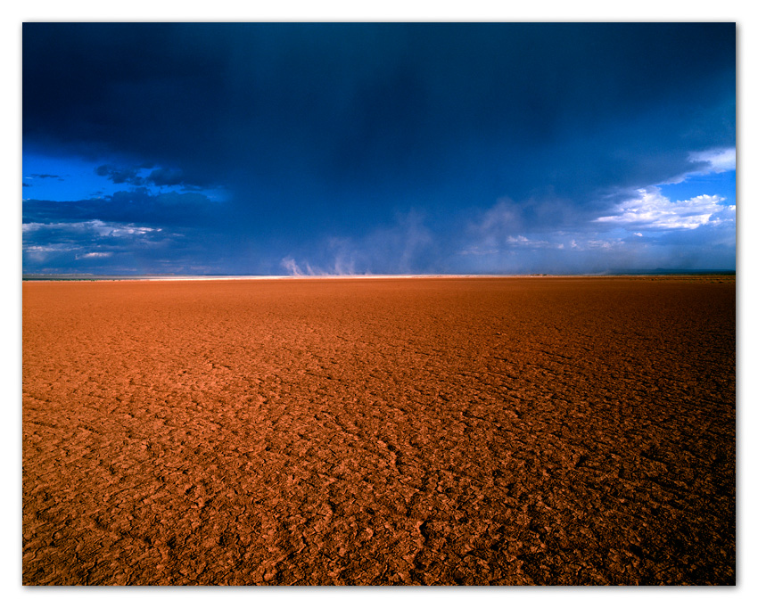 Approaching Storm and Dry Lake Bed Luepe Arizona
