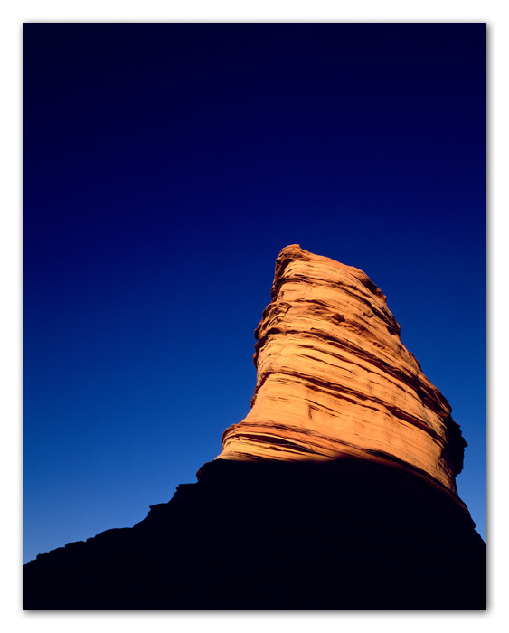 Sand Stone Against Blue Sky Tuba City Arizona